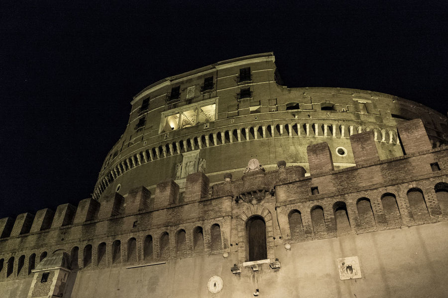Perspective Ancient Architecture Built Structure Castello History Illuminated Prospettiva Sant'angelo The Past