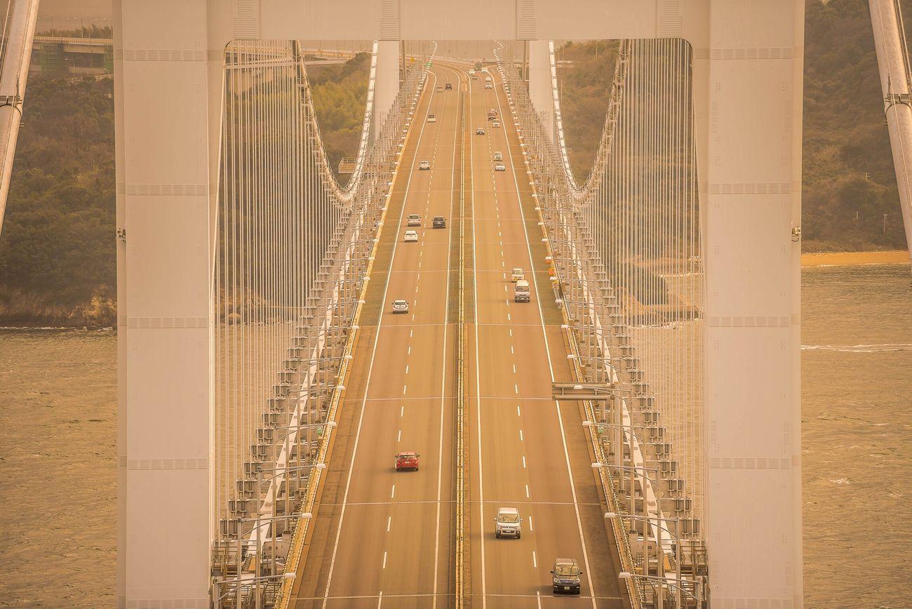 Architecture Suspension Bridge Transportation Built Structure Bridge - Man Made Structure Connection Architecture Landscape EyeEm Nikon Japan Okayama 瀬戸大橋 EyeEm Best Shots EyeEm Best Edits Superbview