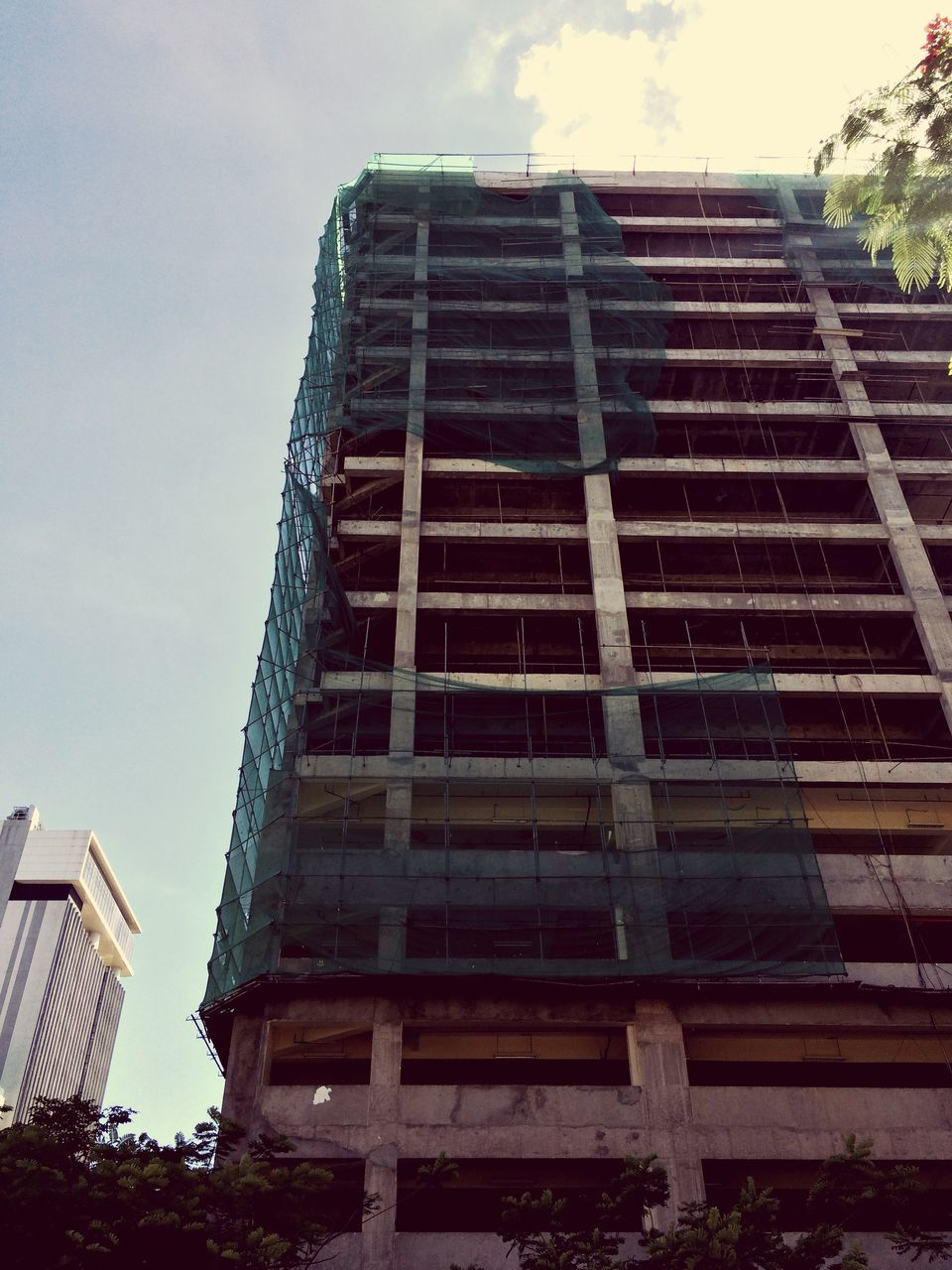 built structure, building exterior, low angle view, architecture, sky, outdoors, day, no people, city