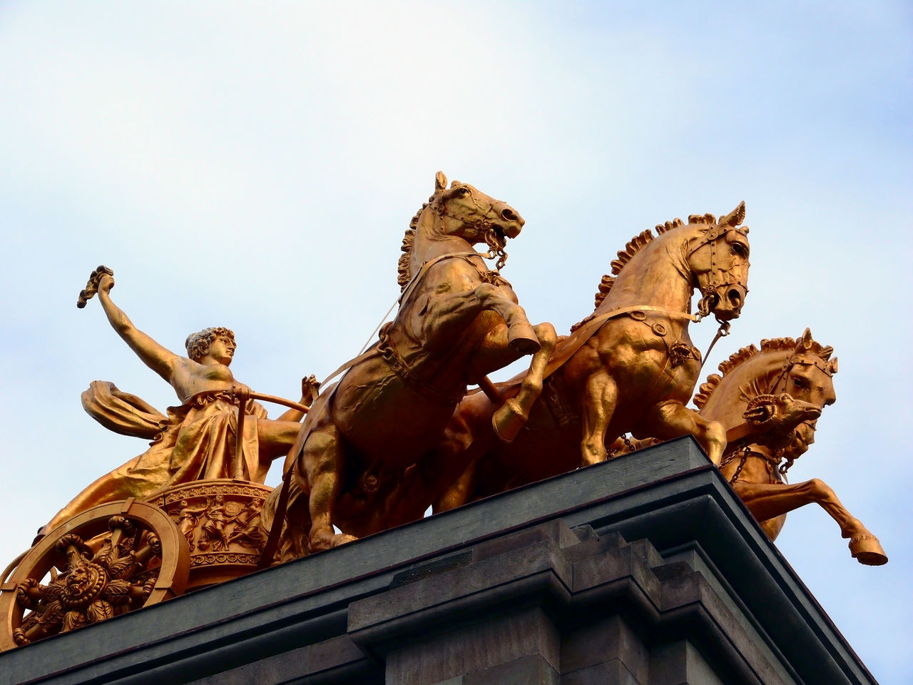 """Q"" like the Quadriga in Barcelona's Parc de la Ciutadella 