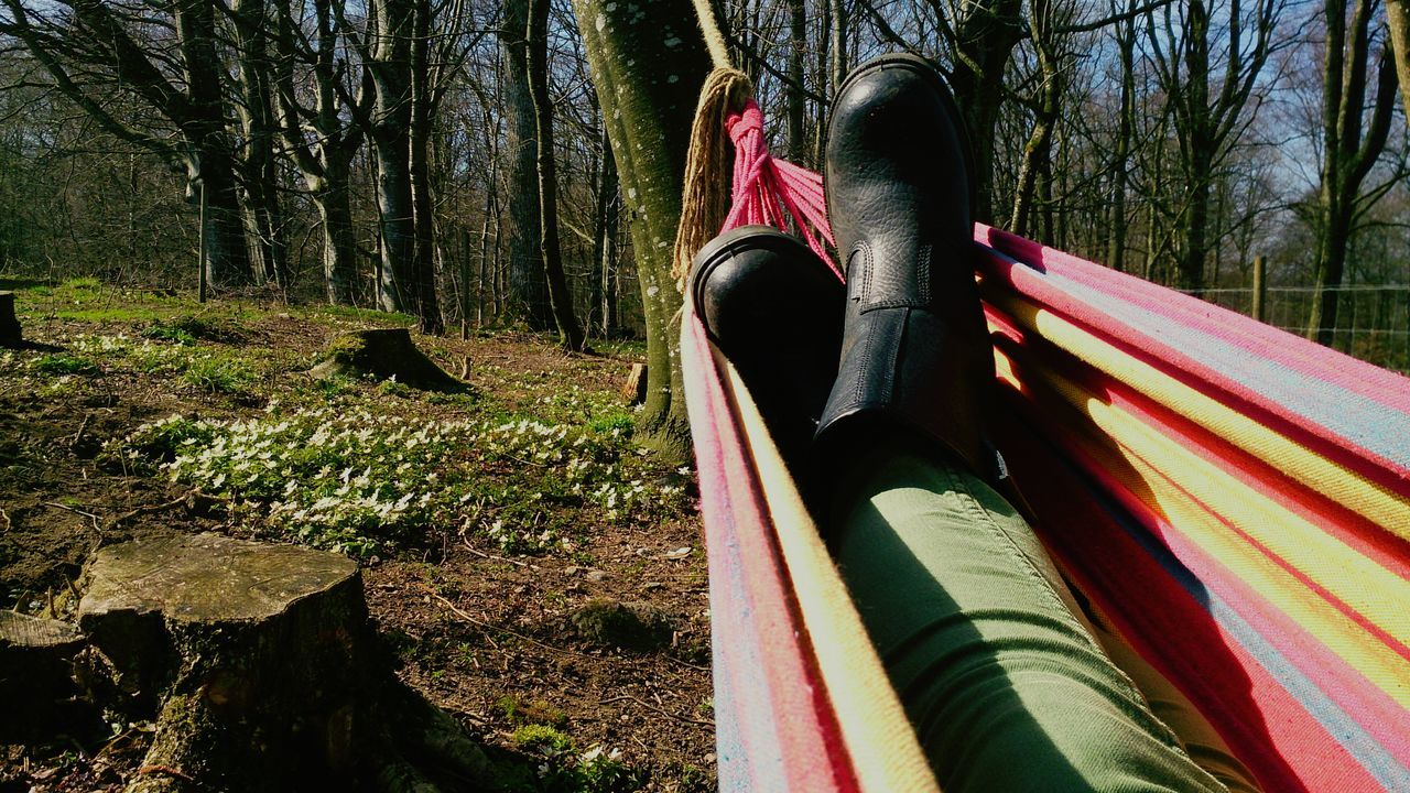 Resting in the hammock after making a flowerbed... Hammocking Hammocktime Gardening In The Garden Springtime Boots Enjoying Life