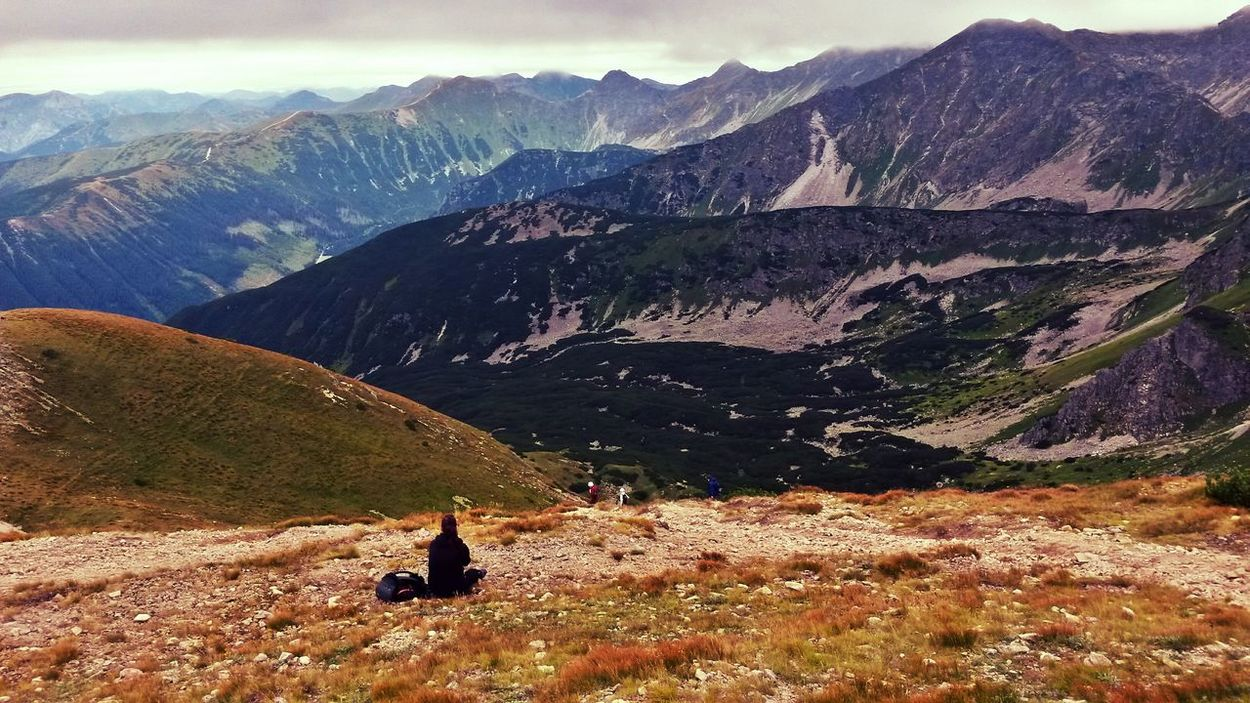 Mountain Mountain Range Beauty In Nature Nature Landscape Happiness People Adventure Outdoors Enjoyeverymoment Sky Freedom Trees Life Forest Homeland Thisisslovakia Roháče Zuberec