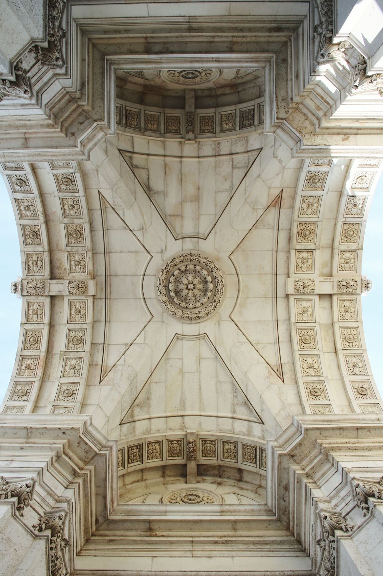 Architecture Travel Destinations History Symmetry Tourism Built Structure City No People Indoors  Arch Day Sky Arco Plaça Do Comercio Lisboa Arco Di Trionfo Rua Augusta Arch Rua Augusta Terreiro Do Paço Tago River TagusLisbon, Portugal TerreiroDoPaço