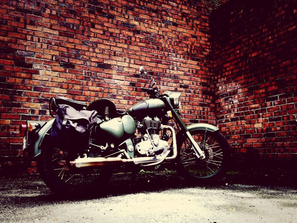 Beautiful stock photos of motorcycle, Absence, Brick Wall, Day, Land Vehicle