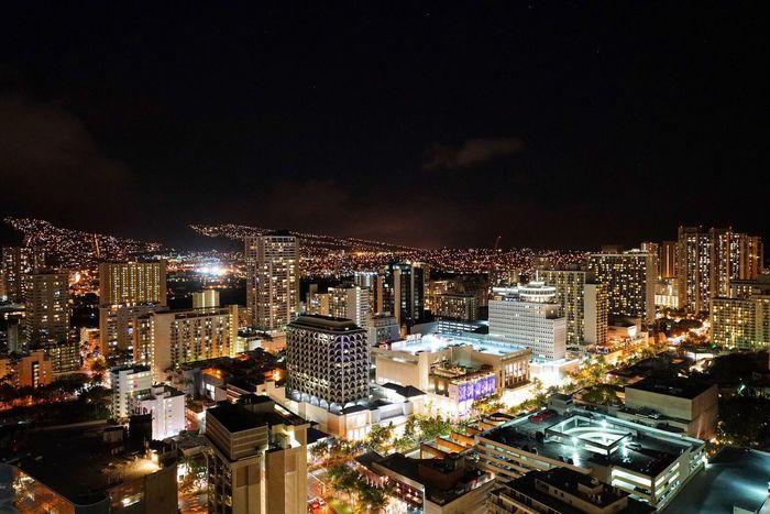 Learn & Shoot: After Dark Waikiki Hawaii Night Lights Nightphotography Night View Eyem Gallery EyeEm