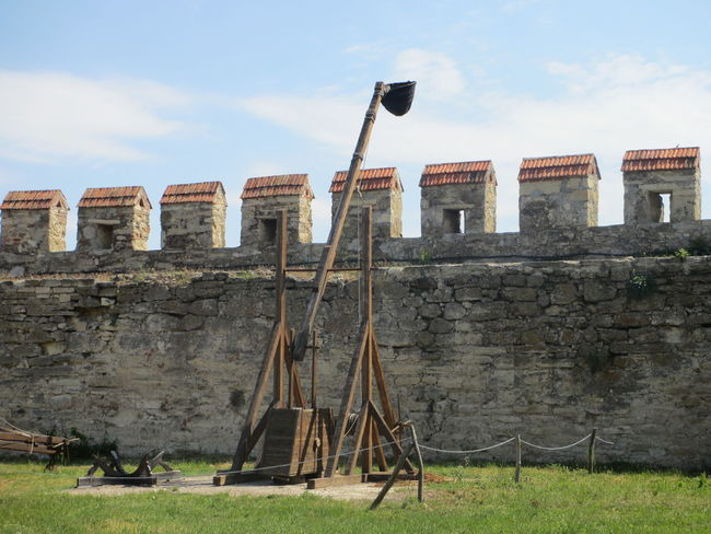 Ancient Weapon Catapult Obsolete Old Old Weapon Russian Trebuchet