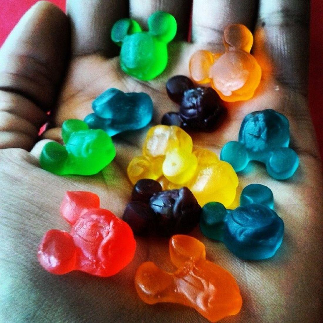Bom dia Mickey Me Love Nice Cool Green Red Yellow Blue Orange Disney Fini Gelatinas Jj  Like Follow