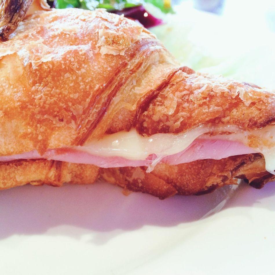 Croissant Bread Breakfast Hamandcheese