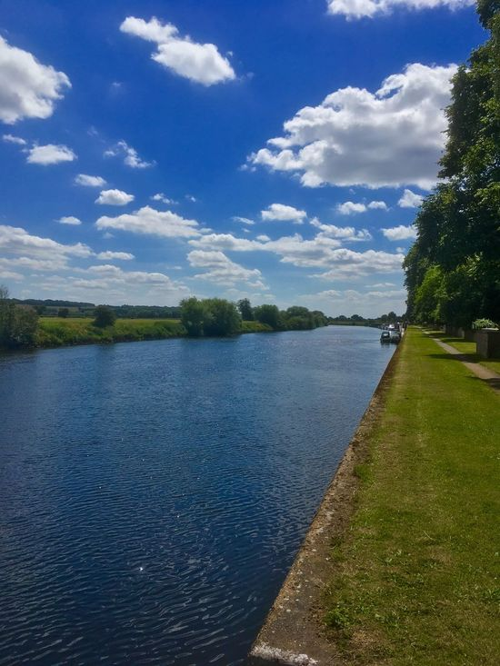 River Trent walk at Fiskerton. Sky Cloud - Sky Tree Water Day Tranquil Scene Nature Tranquility No People Outdoors Scenics Lake Beauty In Nature Sunlight Landscape Grass Growth