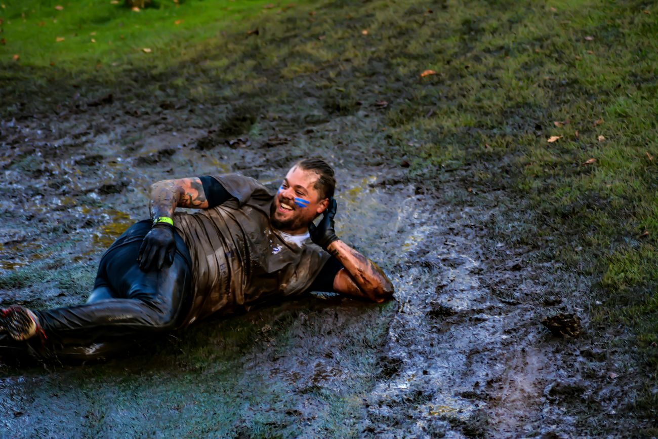 You can relax now this is it...... You can smile again and relax.... Muddy Mayhem People Watching Photography Nikon D5200 Just For Fun For The Love Of Photography Taking Photos Mud Water Slide