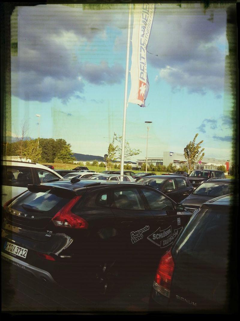 Bin mit der Rakete natürlich auch ins Fitnessstudio geflogen :-) Volvo V40 XC Volvo Schlüsseltausch Pfitzenmeier