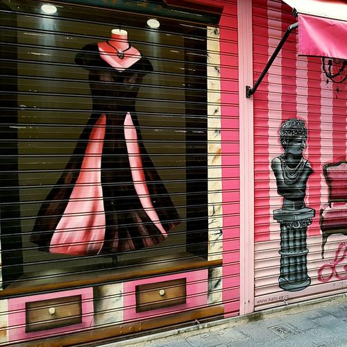 Only Women Full Length One Woman Only Standing Fashion People Outdoors Day Sevilla Seville Store Building Comercial Promo Dress Pink Color Pink Rose Pink PINKY Store Decor Storefront Stores Front View Building Exterior Wall Millennial Pink EyeEmNewHere The Street Photographer - 2017 EyeEm Awards The Great Outdoors - 2017 EyeEm Awards The Architect - 2017 EyeEm Awards