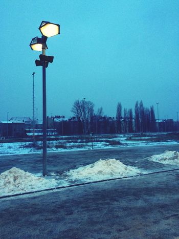 winterliche Bahnhofsromantik am Morgen Winter Goodmorning