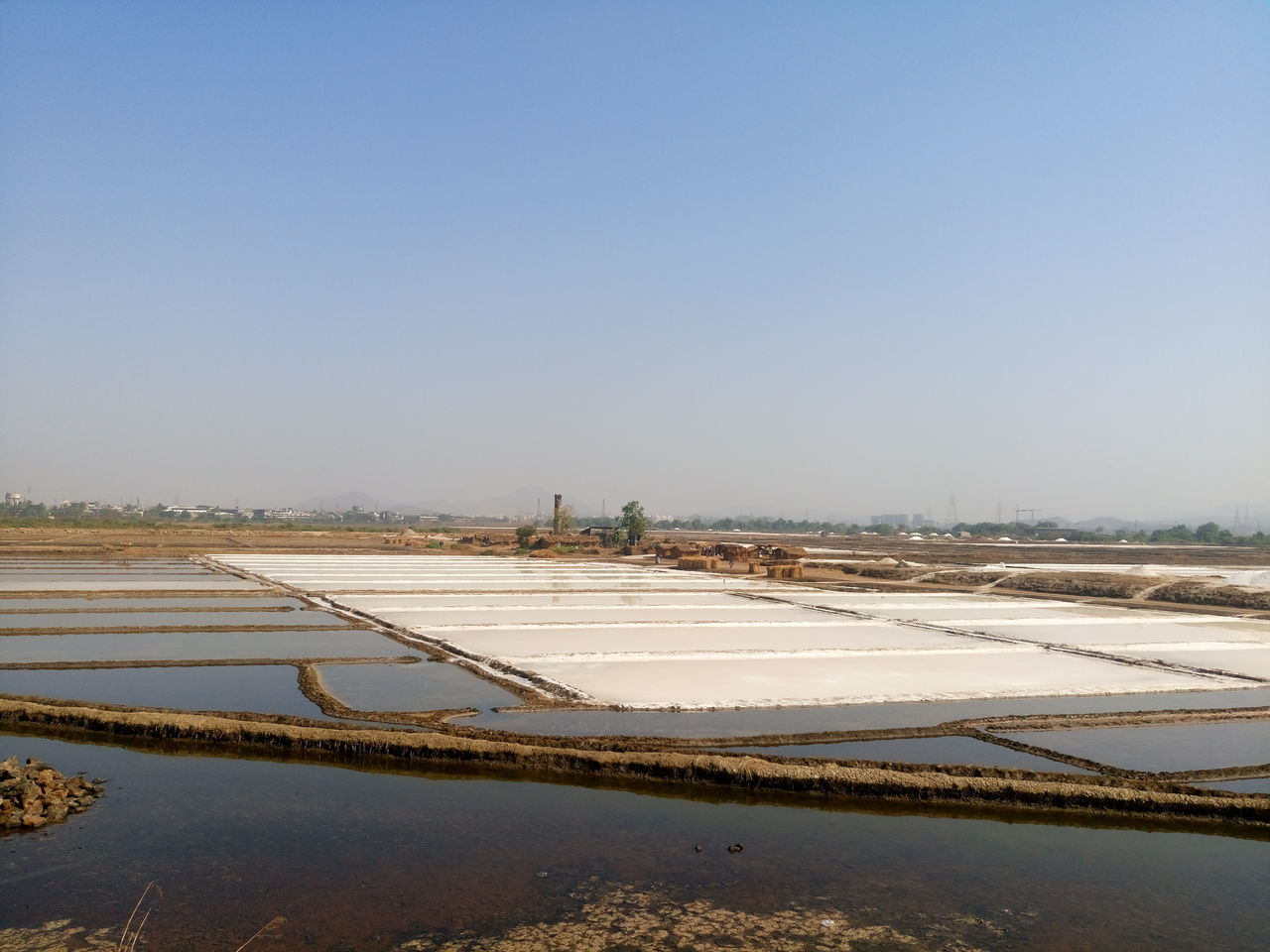 Agriculture Beauty In Nature Clear Sky Day Nature No People Outdoors Salt - Mineral Salt Flat Sky Snow Water Winter