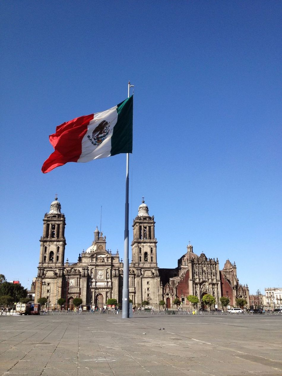 Beautiful stock photos of mexican flag, Architecture, Blue, Building Exterior, Built Structure