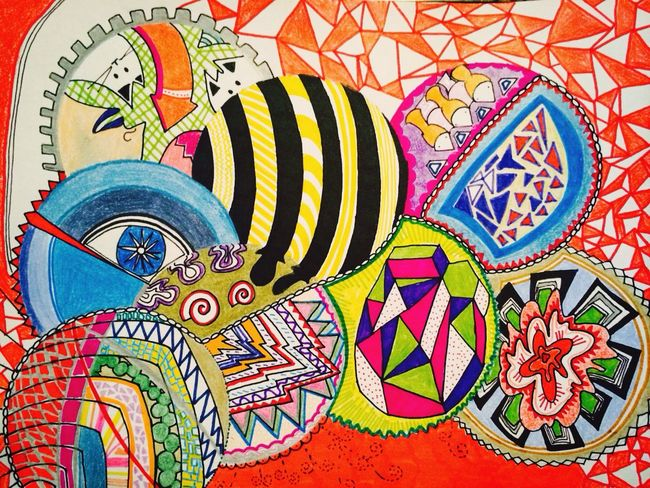 High Pyschedelic Colorful Drawing