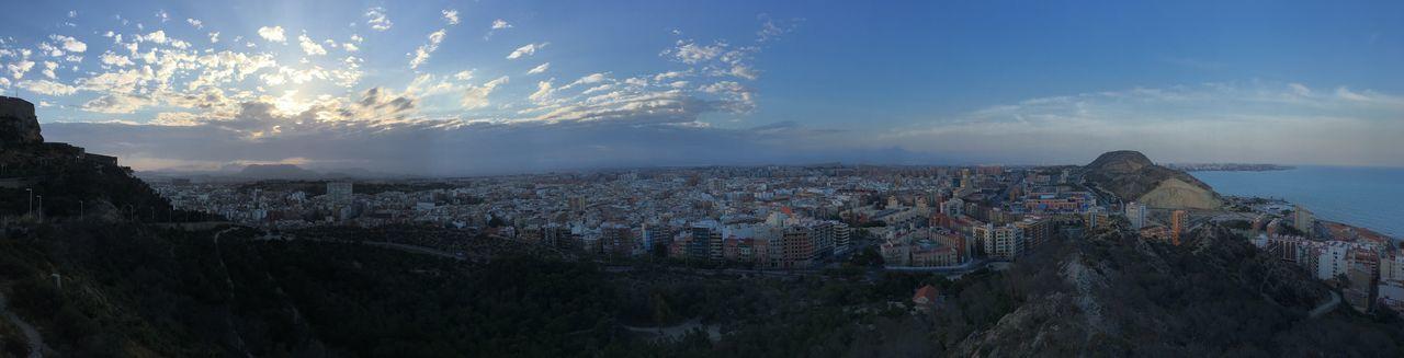 Panoramic Alicante Castillo De Santa Bárbara Taking Photos That's Me Hello World Hi! Relaxing Blue Other Colors .