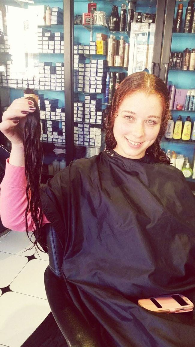 Only by giving are you able to receive more than you already have!! Donating my hair for the forth time!!! Hoping make someone happy 😊😊 Donating Hair Omg Shorthair Ginger ThatsMe New Haircut Hairdresser Nervous Giving Life CancerSucks Help Christmaspresentfromme Doinggood Long Hair