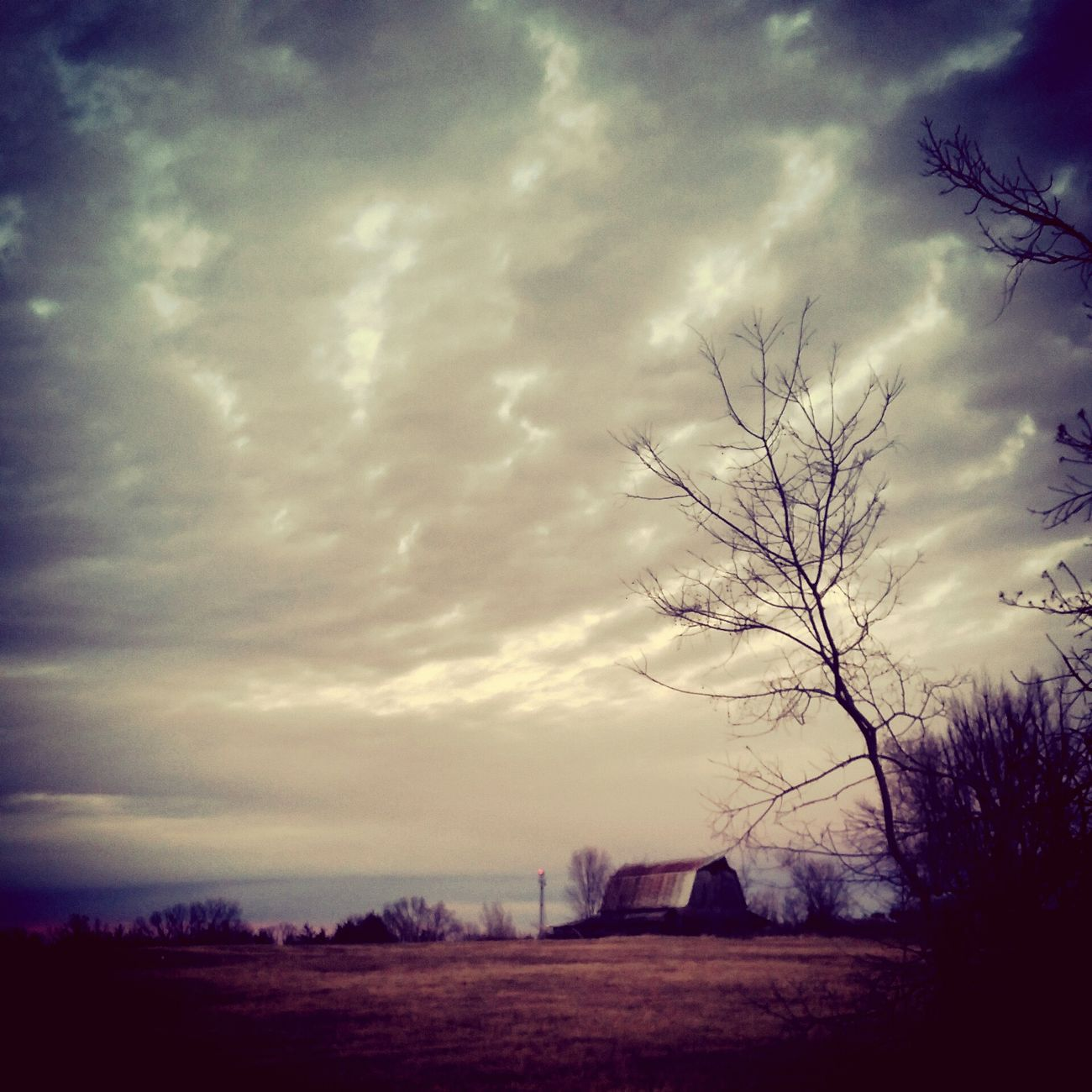 Country Gravel Roads Barns Evening Sky Clouds Beautiful Picture
