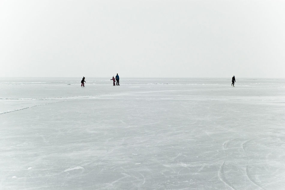Freedom! Frozen Frozen Lake Frozen Landscape  Frozen Nature Frozen World Group Of People Have Fun Ice Field Ice Skating Ice-skating Lake Balaton, Hungary Outdoor Activities Outdoors Skating Vast Vastness Water Winter Winter Sports Winter Time