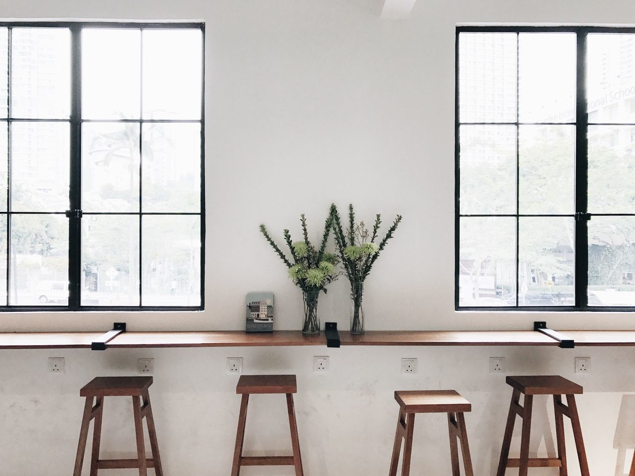 window, table, indoors, plant, potted plant, growth, no people, home interior, day, architecture