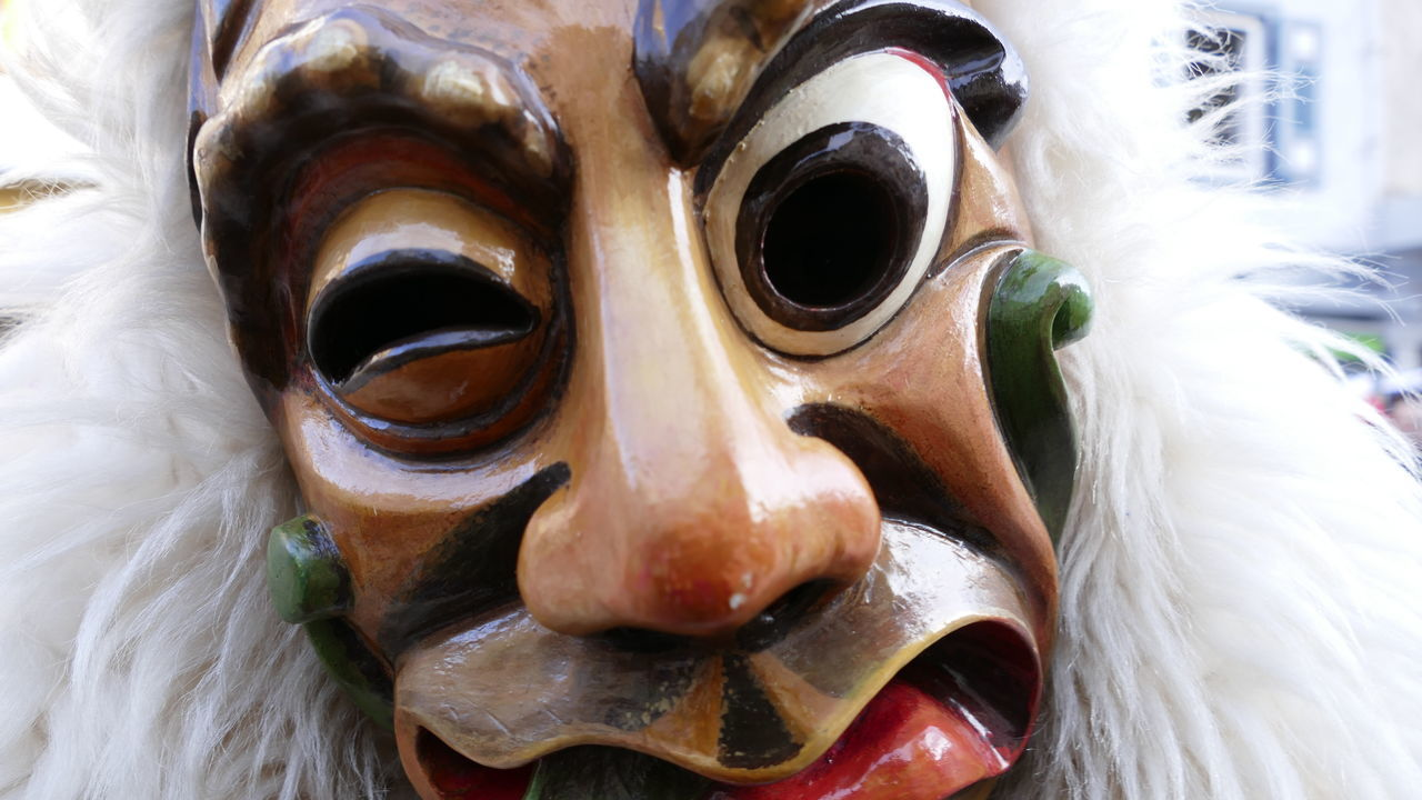 Extreme Close-up Mask Carneval Fasnacht Hexen Traditional Culture Witch