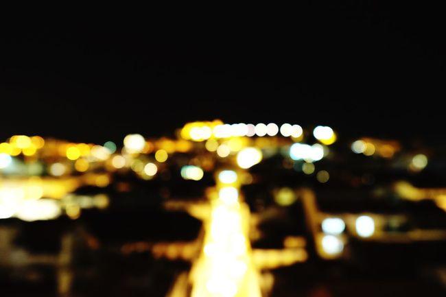 Blurred Skyline Cityscape Night Lights Nightscape Urban Jungle