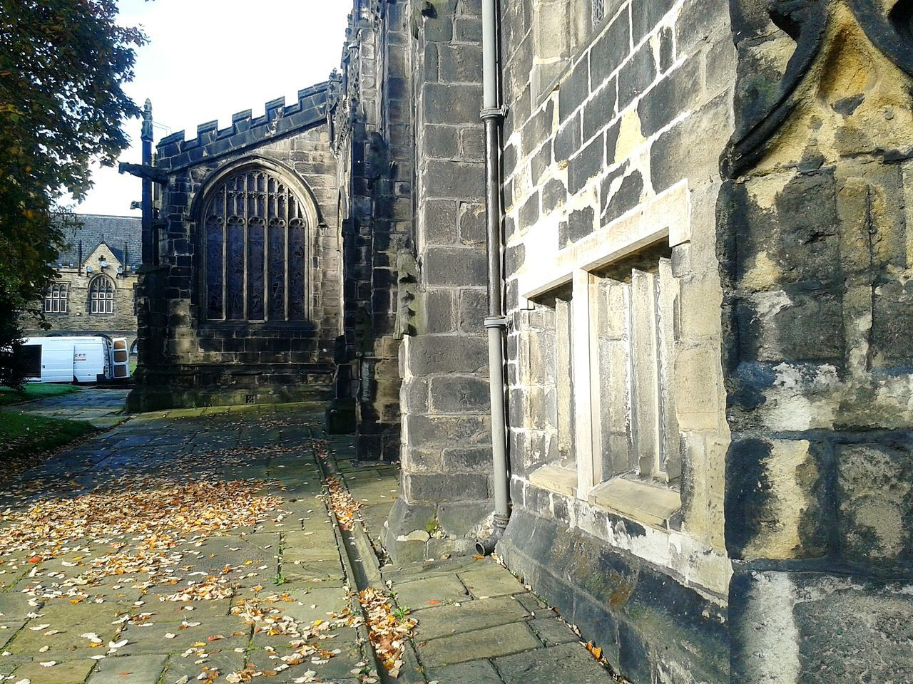Graveyard Collection Peaceful Place Gravestones Old Churches Medieval Minister Gargoyles Beautiful Stonework Churchyard Autumn Leaves