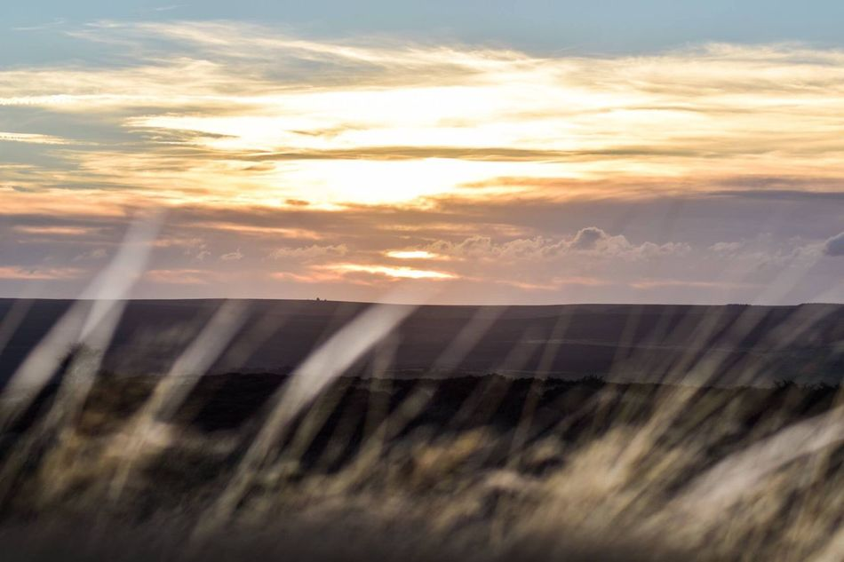 Sunset Water Sky Scenics Cloud - Sky Nature Beauty In Nature Orange Color Cloud Outdoors Tranquil Scene Tranquility No People Dramatic Sky Blur Red Sky Pink Sky Summers Evening Autumn Evening North Yorkshire Moors Grass Foliage