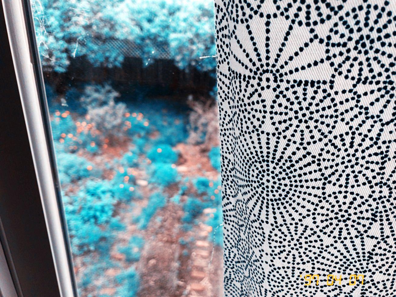 Blue Window Pattern Koduckgirl Hipstamatic Kissimmee Colorshift