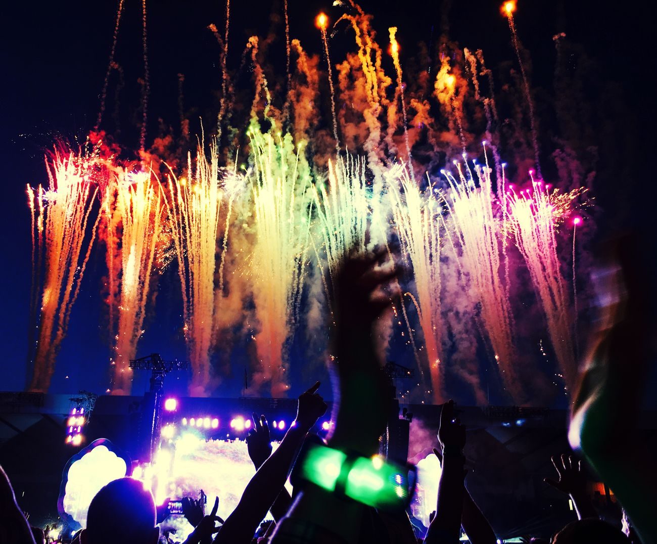 Music Brings Us Together Coldplay Concert  Concert Music Fireworks