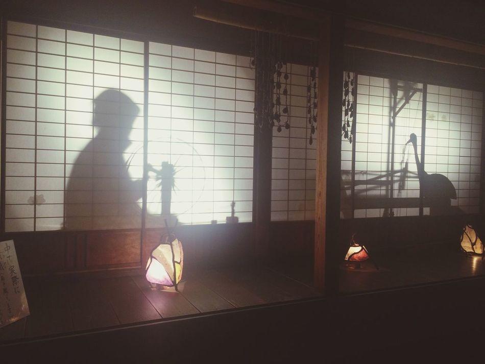 💋☺️ 鶴の恩返し 機織り Japan Shobara Night Light And Shadow