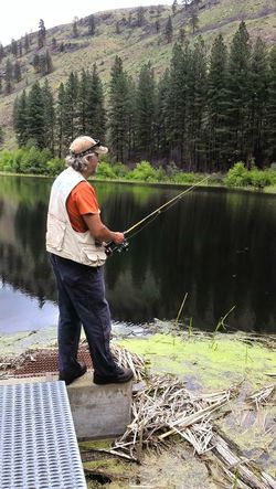 Man Man Fishing Reflections Fishing Trees Fishing Rod Lake Relaxing Omak WA Washington State Eastern Washington My Year My View TCPM Mix Yourself A Good Time Lost In The Landscape
