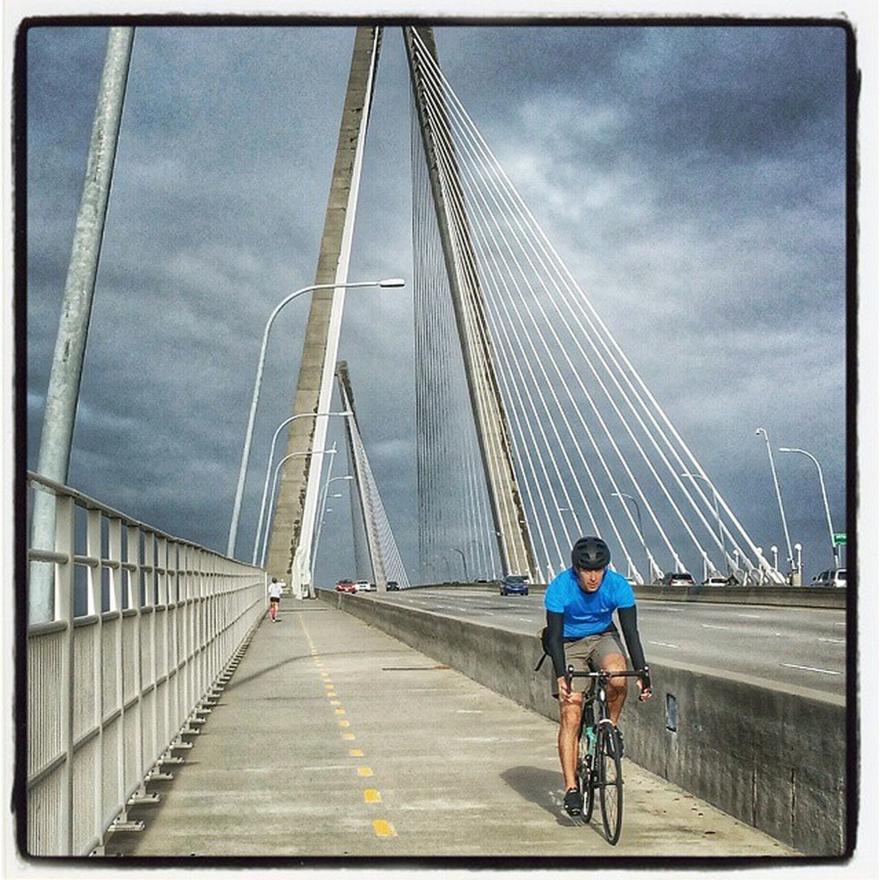 Random shot... Cycling Cooperriverbridge Bike Biking Fitness Charleston Charlestonsc Southcarolina Cyclingpics  Cyclinglife Trek Strava Giant