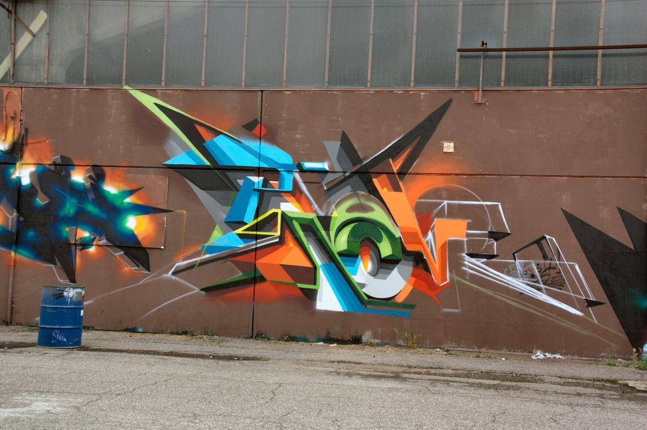 MOS 2016 (Meeting of Styles) 3D Art Colors Day Eyeem Art Lover EyeEm Gallery Graffiti Industrial Wall MOS 2016 (Meeting Of Styles) Murales Muralesart Outdoors Street Art Tag No Tag Tags