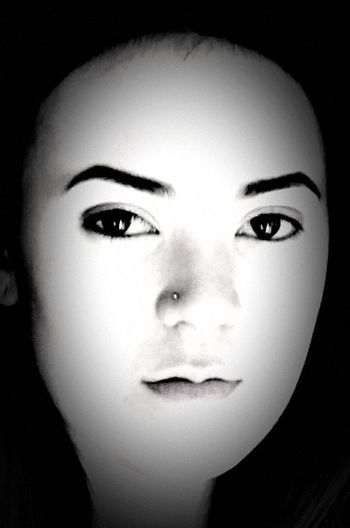 Face Girls Face Black And White Face Young Girls Face