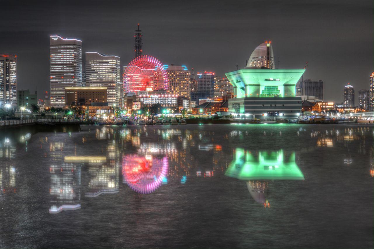 Waterfront Reflection Architecture Illuminated Night Night Lights Water Reflections Cityscape light and reflection