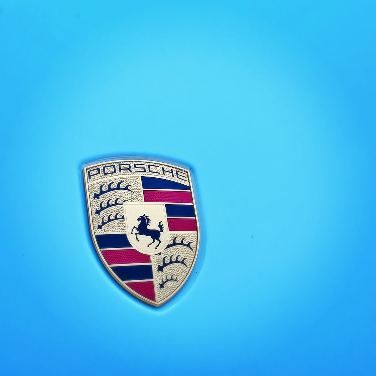 #bluecar #logo #phonephotography #porsche #porsche911 #sportscar Blue Close-up Communication Copy Space Day Human Representation No People Outdoors