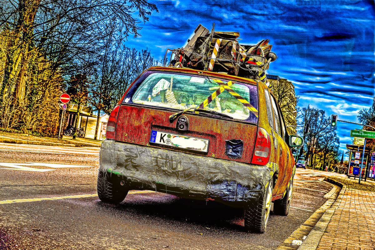 Opel Corsa – Rostpatina Opel Corsa - artificially rusted ArtWork Day Hdrphotography Kunstwerk No People Opel Corsa Outdoors Road Rost Tree