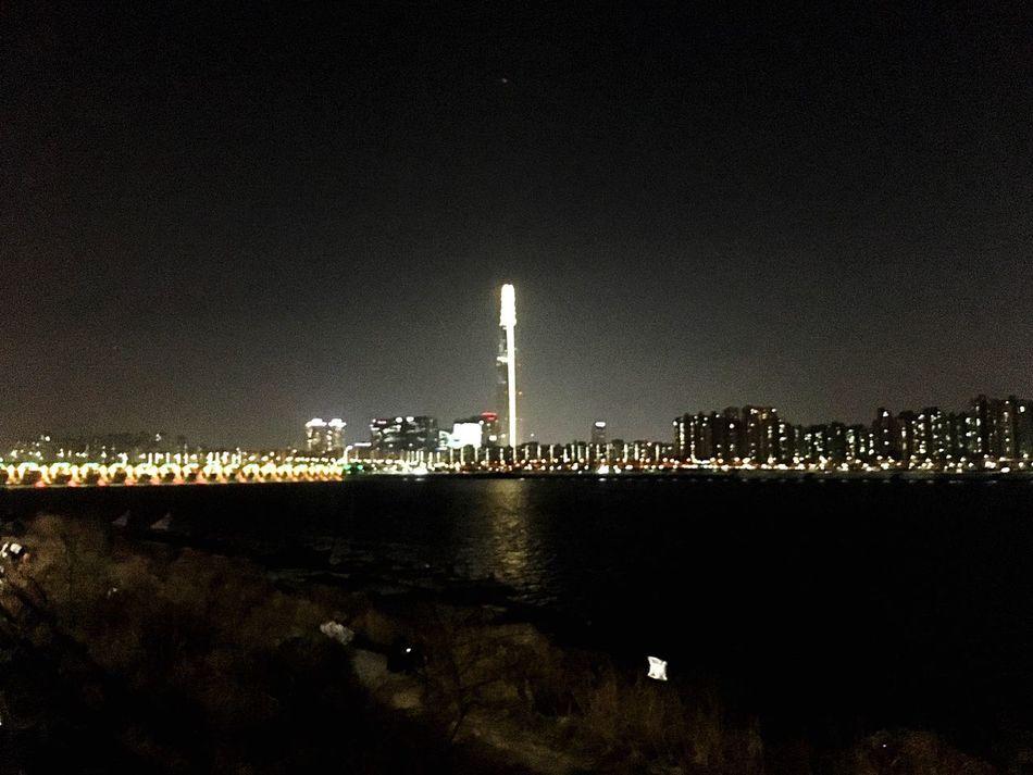 한강 Illuminated Night Lottetower First Eyeem Photo