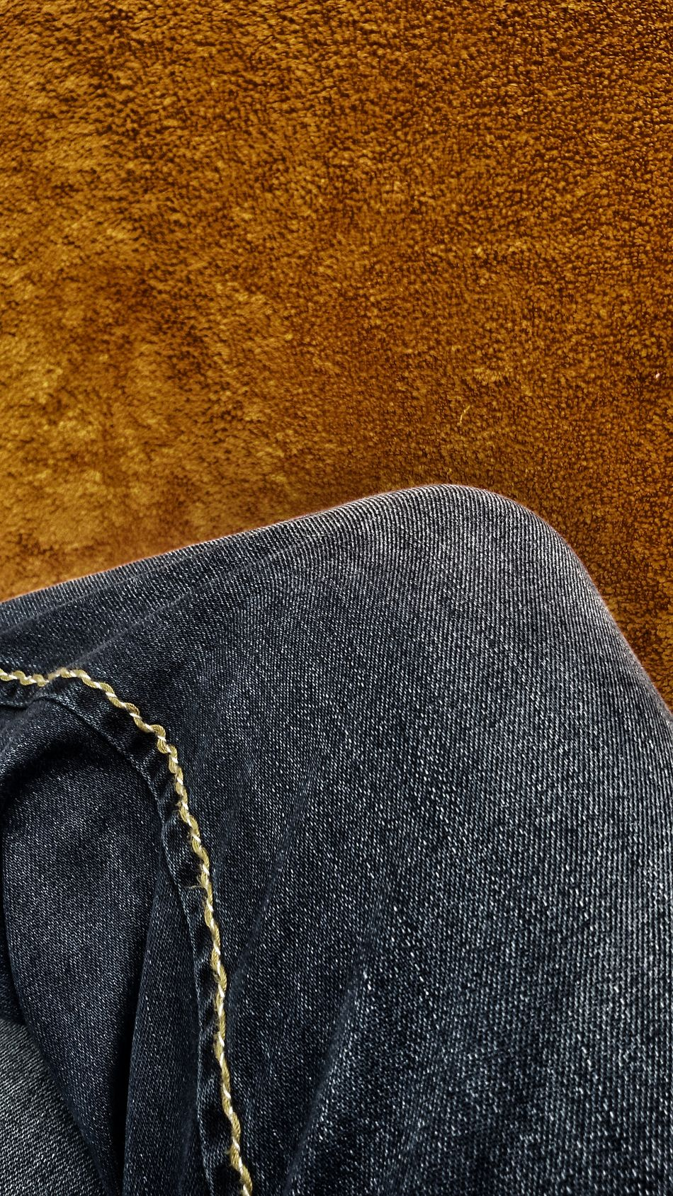 Art Is Everywhere Detail Texture Abstract Fabric Clothes Seemed Denim Trousers Towel