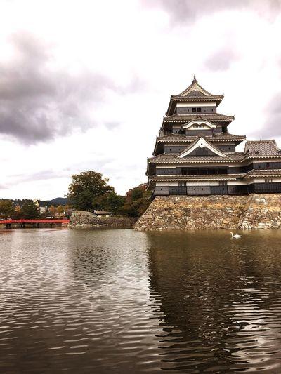 Japanese Culture Japanese Castle Matsumoto Castle Japan Castle Bridge Red Bridge Bird Dack