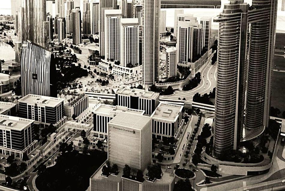 Urban Geometry Architecture_collection Black & White Buildings Dubai