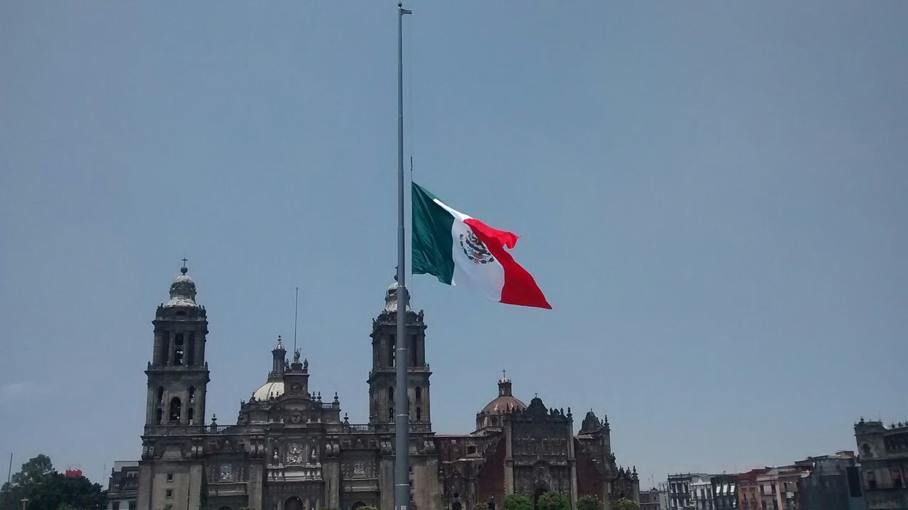 Beautiful stock photos of mexican flag, , Architecture, Building Exterior, Christianity