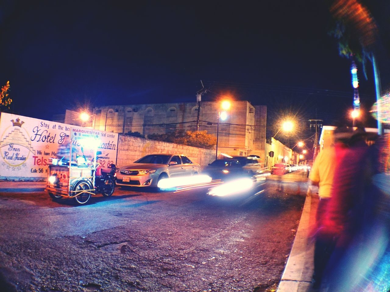 Street life. Landscape Paseo Montejo Filux Mexico 2017 Colors Night Photography City Life Merida♡ Yucatan Mexico Urban Photography Outdoors Mobile Photography Street Photography Xperia ZL Mérida Yucatán Night Shot People On The Street People And Places