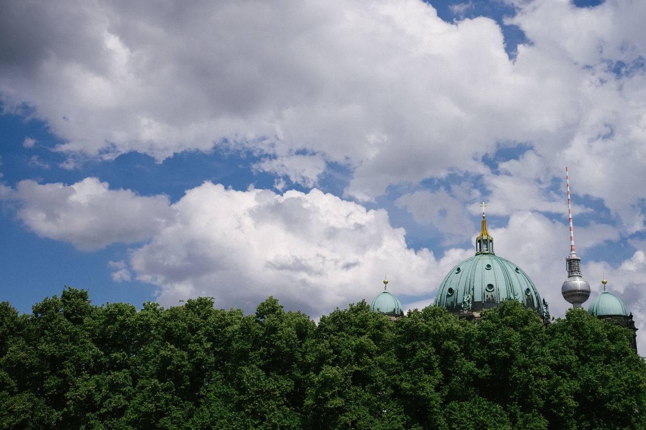 Architecture Berlin Berlin Cathedral Building Exterior Built Structure Capture Berlin Cloud - Sky Day Deutschland Germany No People Outdoors Sky Tower Tree TV Tower