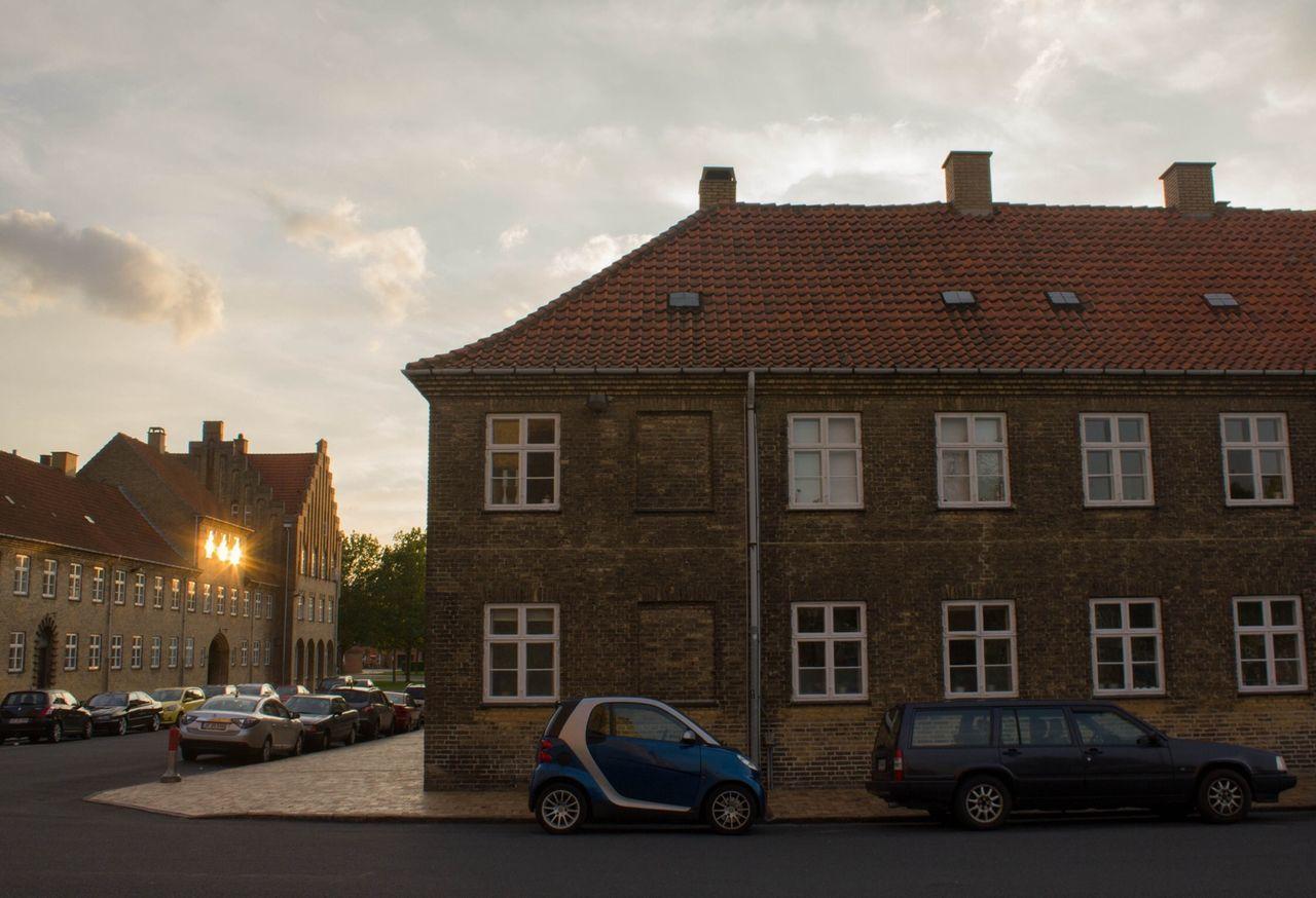 Evning Parking Cars Small Car