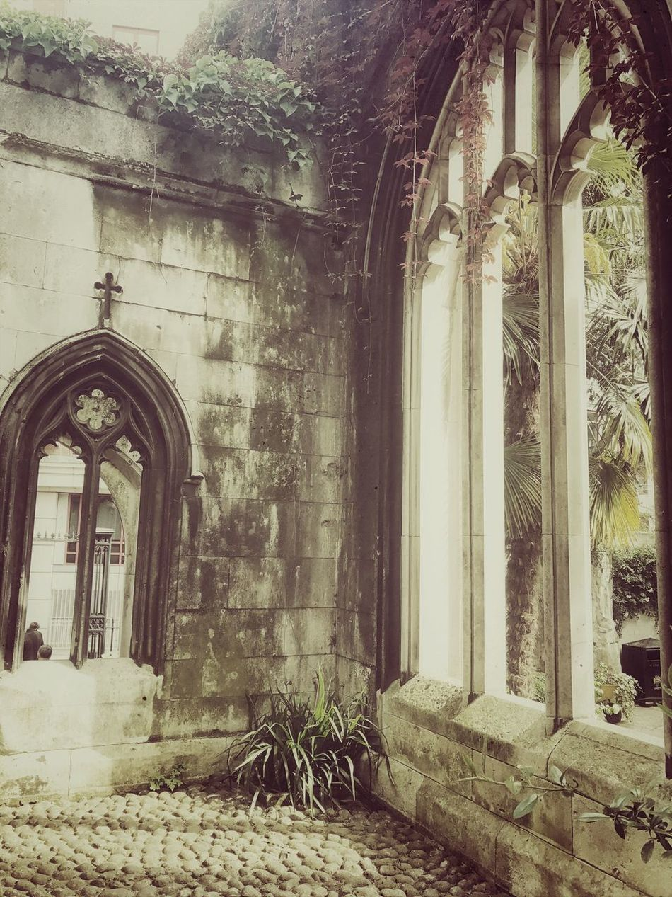St Dunstan in the east ruins, city of London ❤ Window Day Architecture Built Structure No People History Indoors  Building Exterior