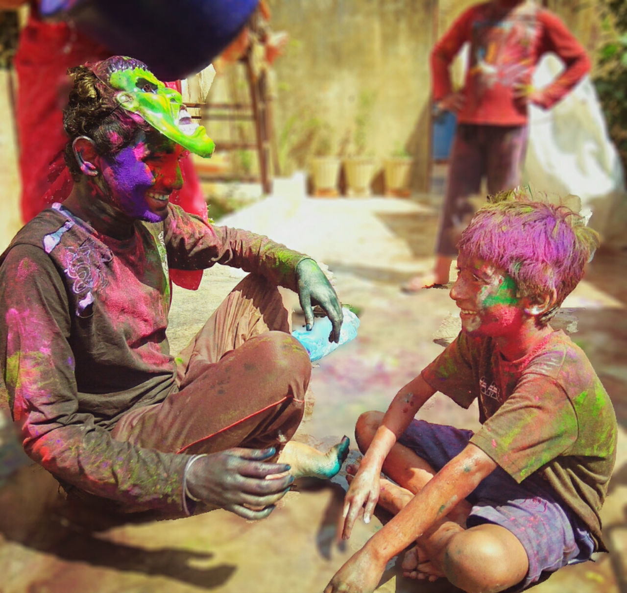 Cultures Real People Holi Colors Holi Colour Festival Holi Celebration.india Multi Colored Outdoors Celebration EyeEmNewHere The Photojournalist - 2017 EyeEm Awards Place Of Heart EyeEm Selects