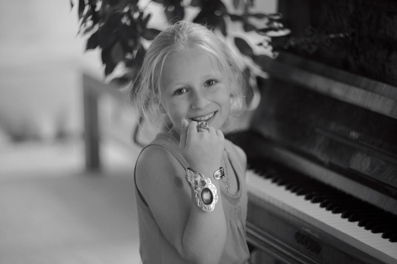Childhood with Piano Child Childhood Indoors  Looking At Camera One Girl Only One Person People Portrait Smiling First Eyeem Photo